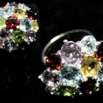 Multi color gems ring