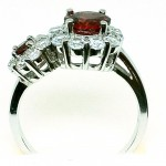 Red Garnet Zircon  ring